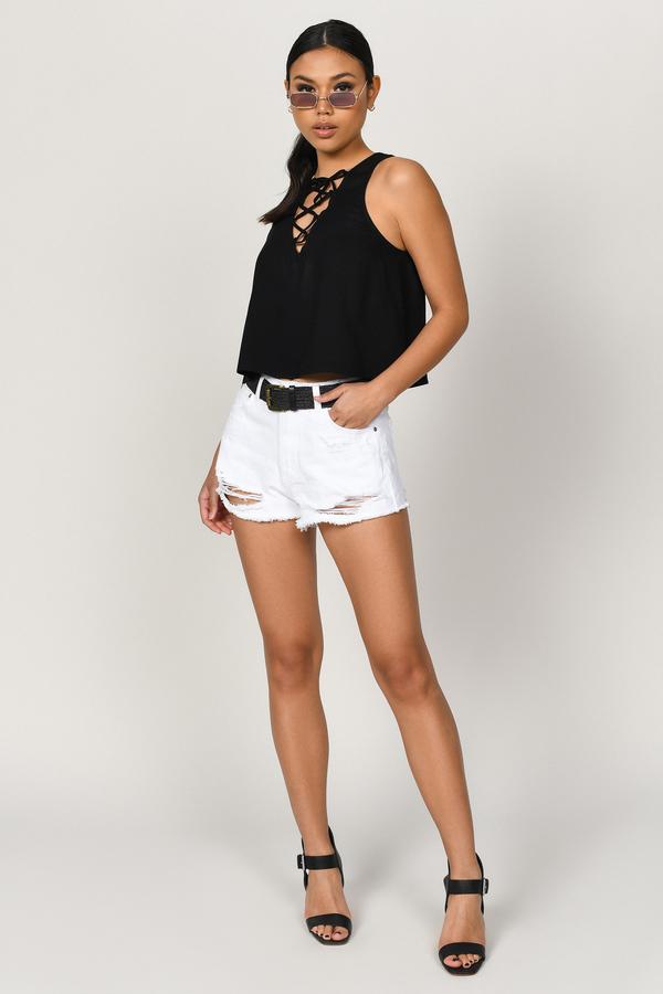 33c4299fec1 Black Lace Tops for Women | Black Lace Shirts & Lace Blouses | Tobi