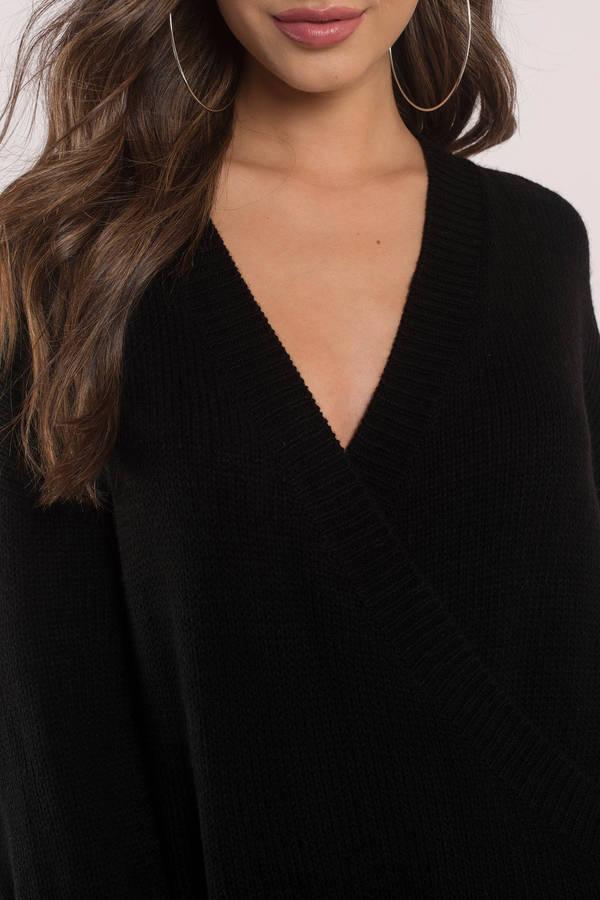 e27812a2cc0 Winter Romance Black Oversized Sweater Dress Winter Romance Black Oversized  Sweater Dress ...
