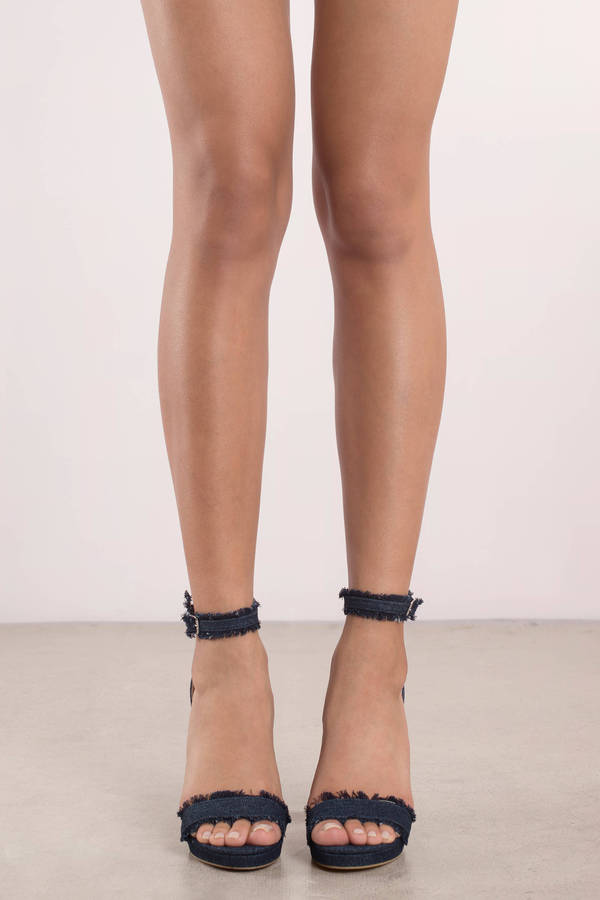 Ankle Strap Heels | Black Pumps, White Strappy High Heels | Tobi