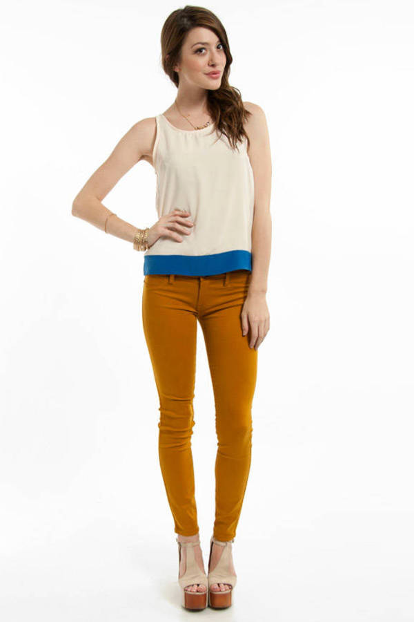 Honey Punch Contrast Band Tank Top