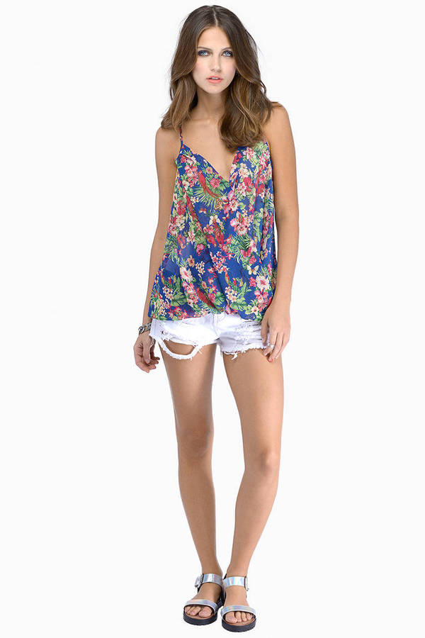 Shop for blue floral print top online at Target. Free shipping on purchases over $35 and save 5% every day with your Target REDcard.