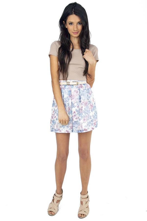Dreaming Floral Skater Skirt
