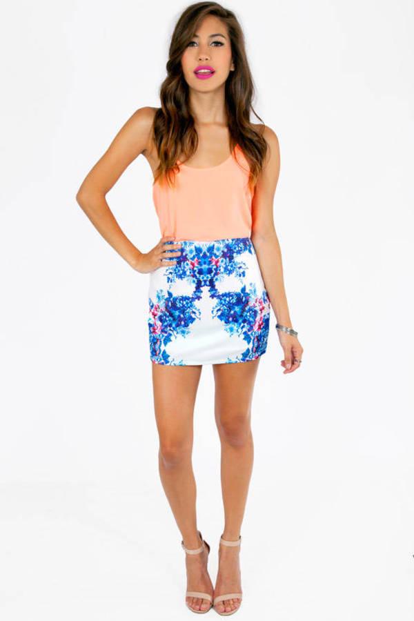 Fulfilling Flowers Skirt