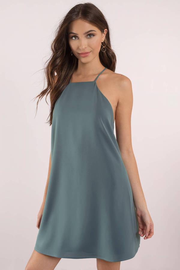 Tobi Party Dresses Gno Blue Little Thrills Shift Dress