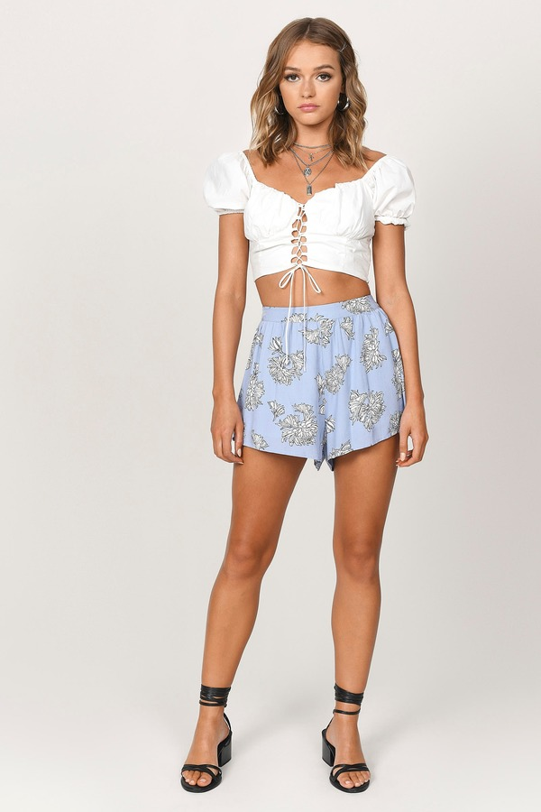 Trendy Blue Shorts - Shorts - Festival Shorts - Blue Multi Shorts ...