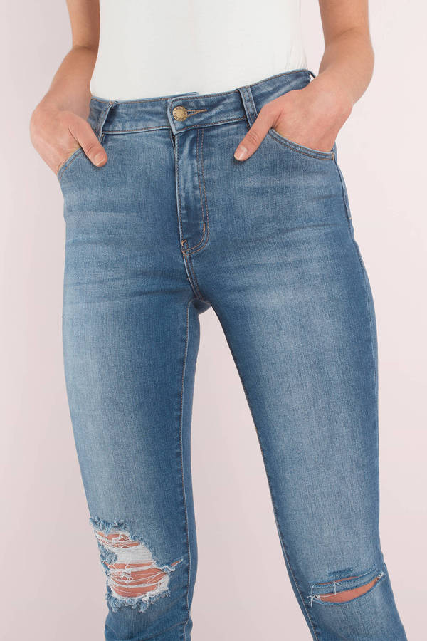 buying cheap stable quality latest trends Westcoast Staple Distressed Denim Jeans