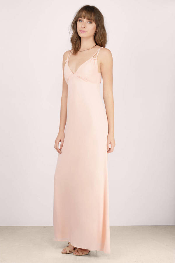 Dancing In The Spring Blush Maxi Dress