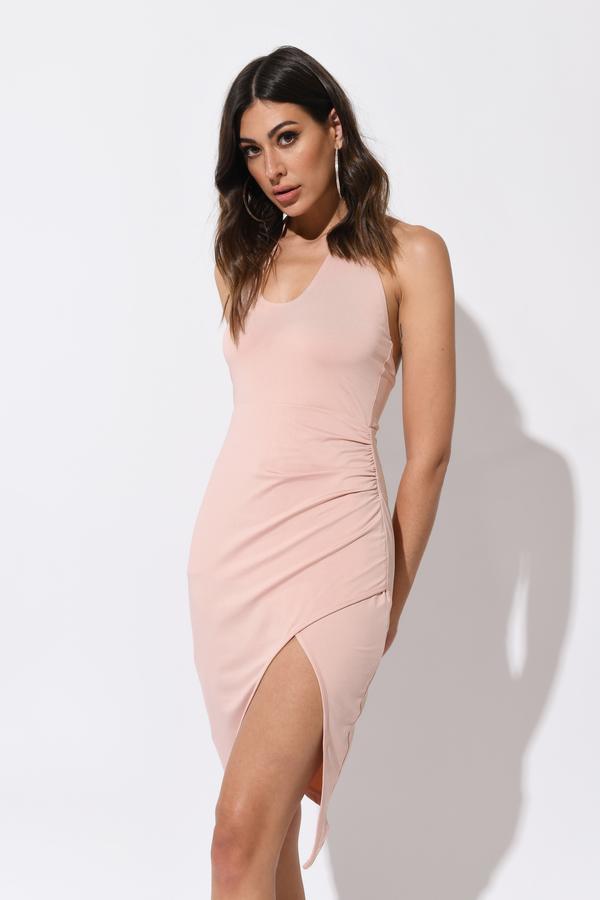 Halter Dresses | White, Black, Halter Top, High Neck, Prom Maxi | Tobi