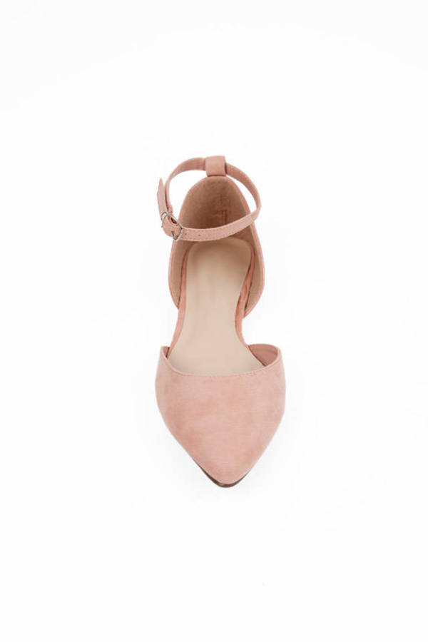 D'orsay Ankle Strap Flats