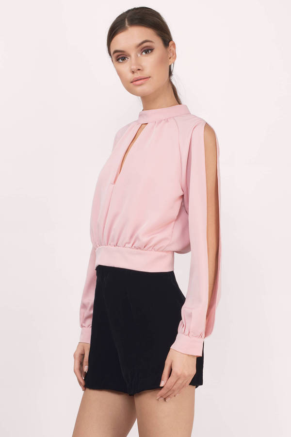 3c6b37e5408f8 Dreams Around You Blush Chiffon Blouse Dreams Around You Blush Chiffon  Blouse ...
