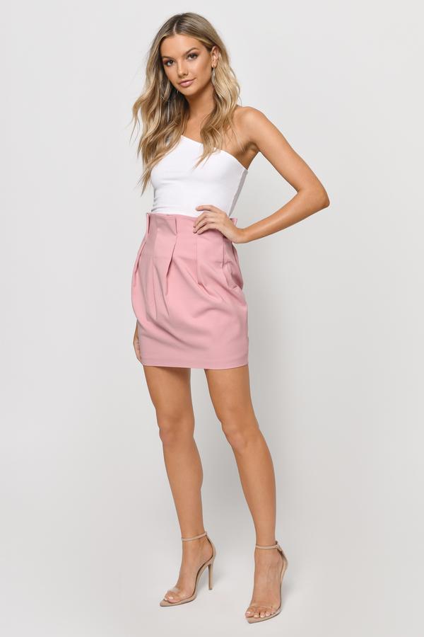 Trendy Blush Skirt - Pink Skirt - High Waisted Skirt - $11.00
