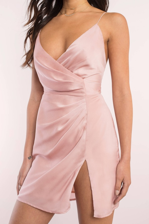 Pink and grey cocktail dress