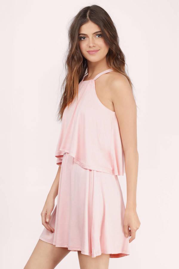 Cute Blush Day Dress - Pink Dress - Sleeveless Dress - $13.00