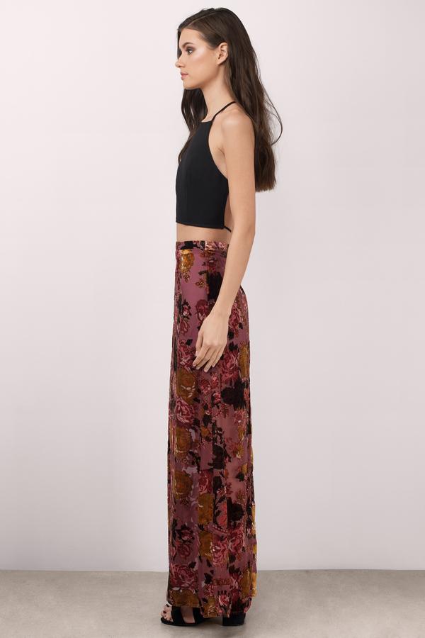 Blush Multi Skirt - Pink Skirt - Maxi Skirt - $19.00