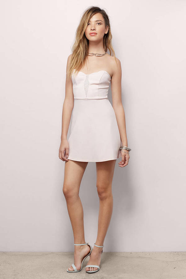d5a15d40001 Cute Blush Bodycon Dress - Sweetheart Dress - Bodycon Dress - $14 ...