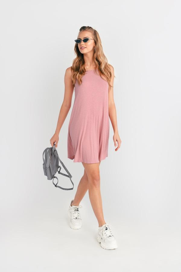 8125adbf1 ... Tobi Blush Pink Dresses, Blush, Sabrina Cami Strap Shift Dress, Tobi