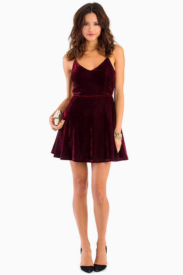Jump For Joy Velour Dress