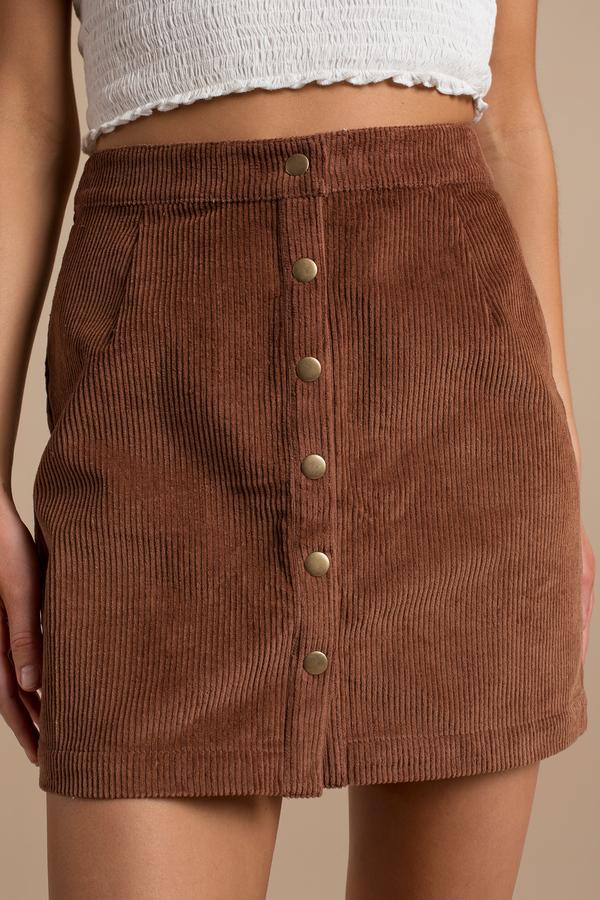 Cute Camel Skirt - A Line Skirt - Corduroy Skirt - Camel Skirt ...