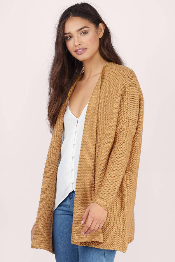 Cheap Camel Cardigan - Oversized Cardigan - Camel Cardigan - NZ ...
