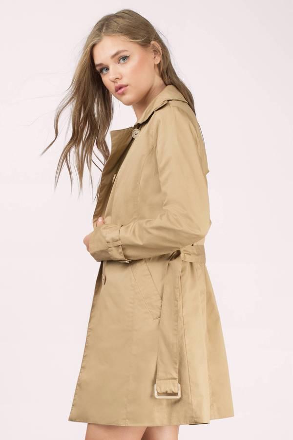 Camel Coat - Waist Tie Coat - Trench Coat - Camel Trench Coat ...