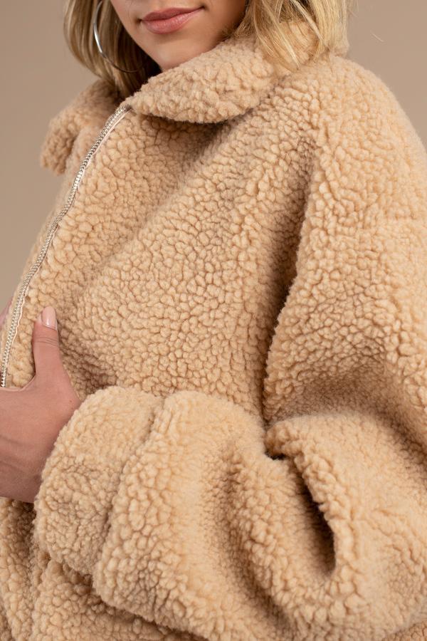 f3deb23563b Cozy Brown Coat - Comfortable Coat - Brown Teddy Bear Coat -  66 ...