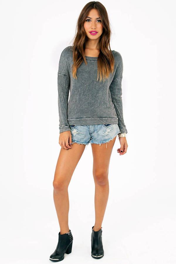Mindi Acid Cropped Sweatshirt