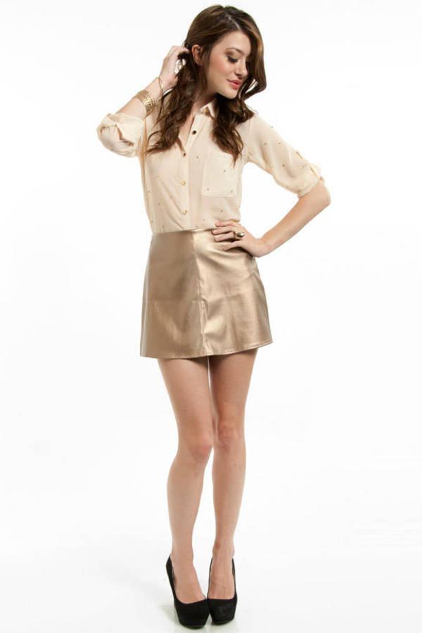 Crishelle Leather Skirt