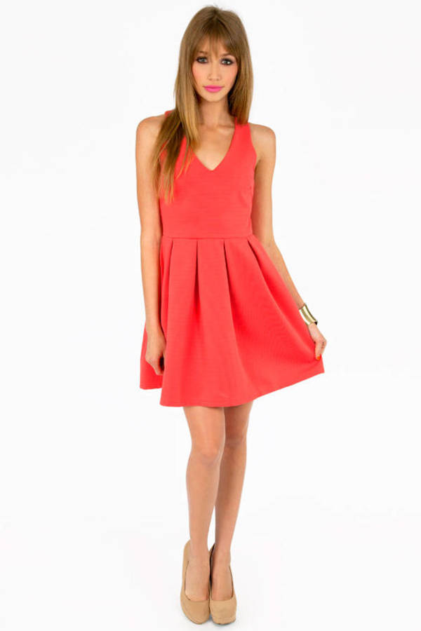 Isabelle V- Neck Skater Dress