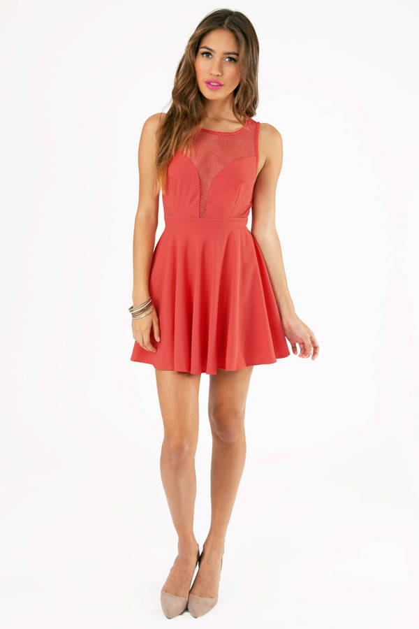 Out the Cuts Skater Dress
