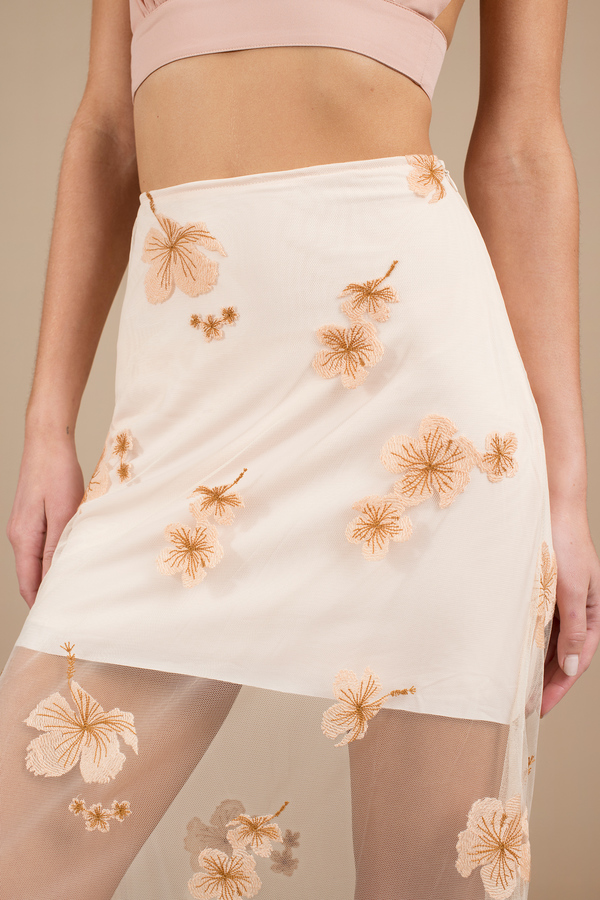 Cute Cream Skirt - High Waisted Skirt - White Skirt - $60.00
