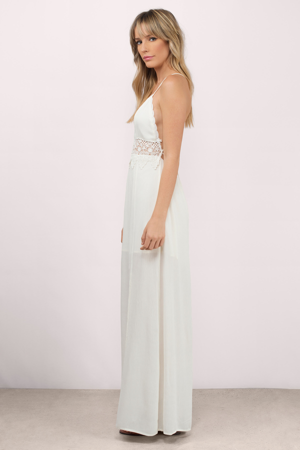 Cute Cream Maxi Dress - Cross Back Dress - Maxi Dress - $23 | Tobi US