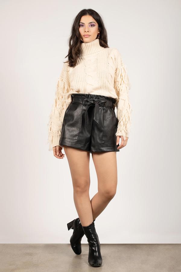 41495e2c White Sweater - Fringe Sweater - White Chunky Knit Sweater - $40 ...