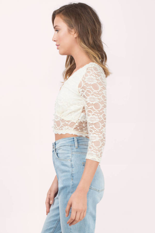 Lace Crop Tops Bustier, Bralette, Crochet Tobi