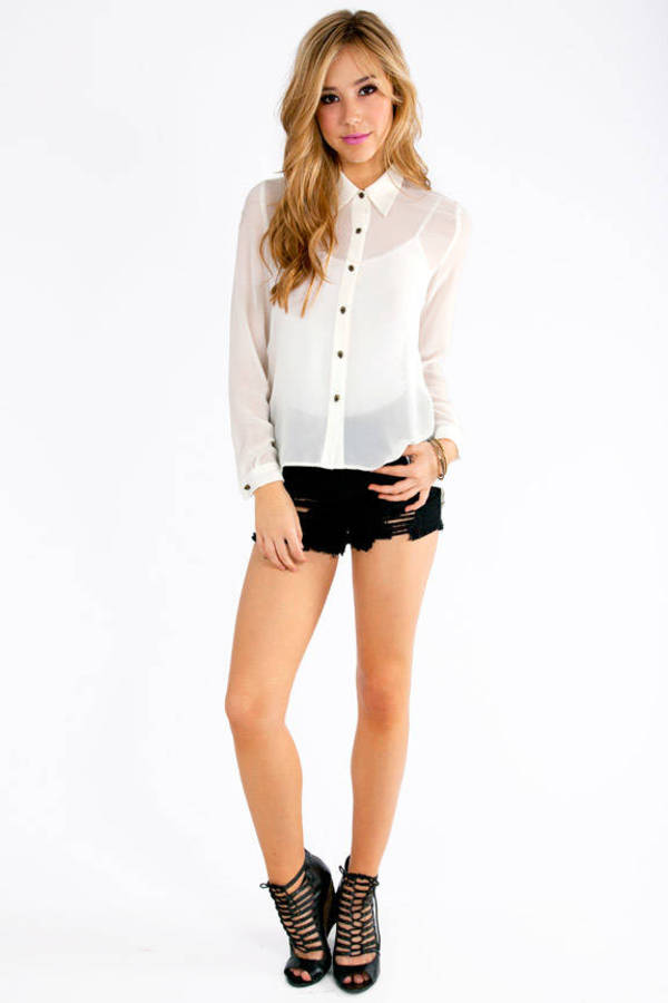 Xcellent Button Up Blouse
