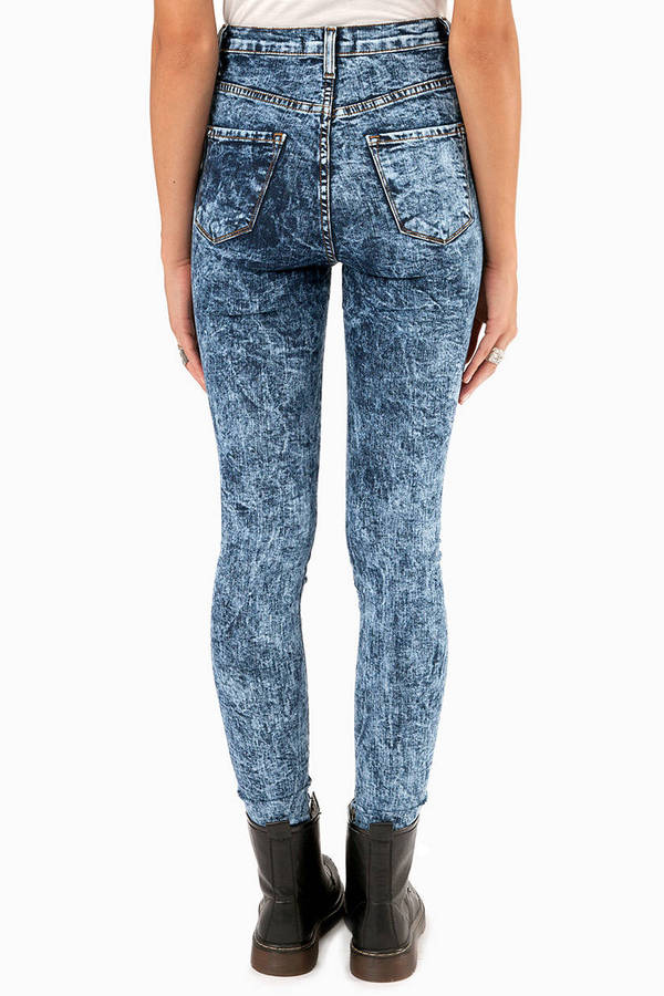 Vibrant M.I.U Grippa High Waisted Acid Jeans