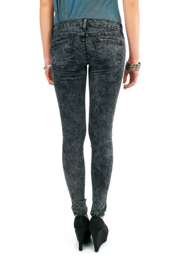 Acid Washed Skinny Jeans