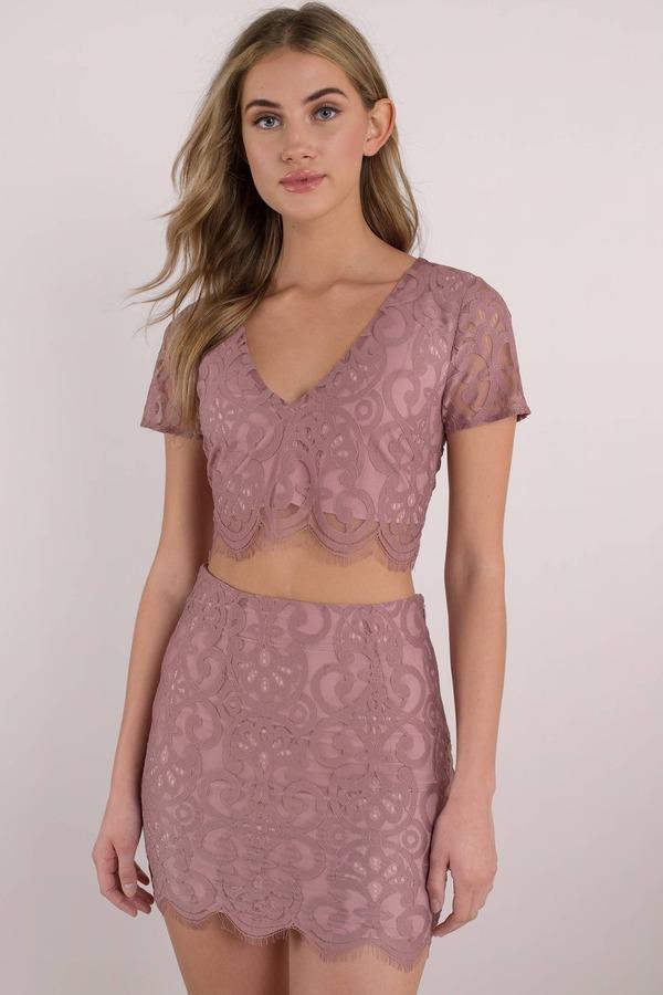 af1b2ff84e Cute Pink Crop Top - Scalloped Crop Top - Pink Lace Crop Top - $16 ...