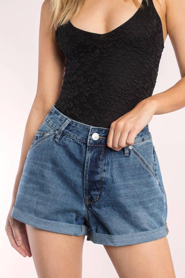 Res Denim Love Fool Easy Blue Shorts - $68.00 | Tobi