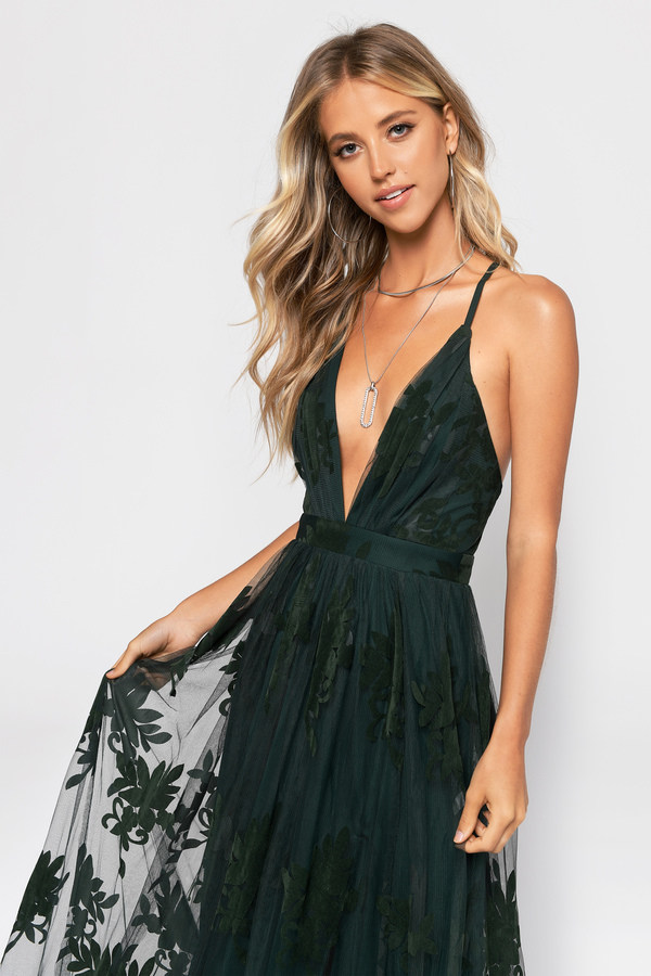 ed4cc6aee23 Analise Emerald Plunging Floral Maxi Dress Analise Emerald Plunging Floral Maxi  Dress ...