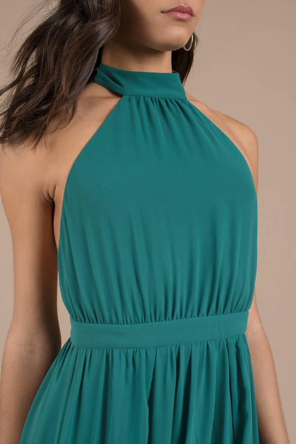a43e00c24753a Tara Mint Halter Maxi Dress Tara Mint Halter Maxi Dress ...