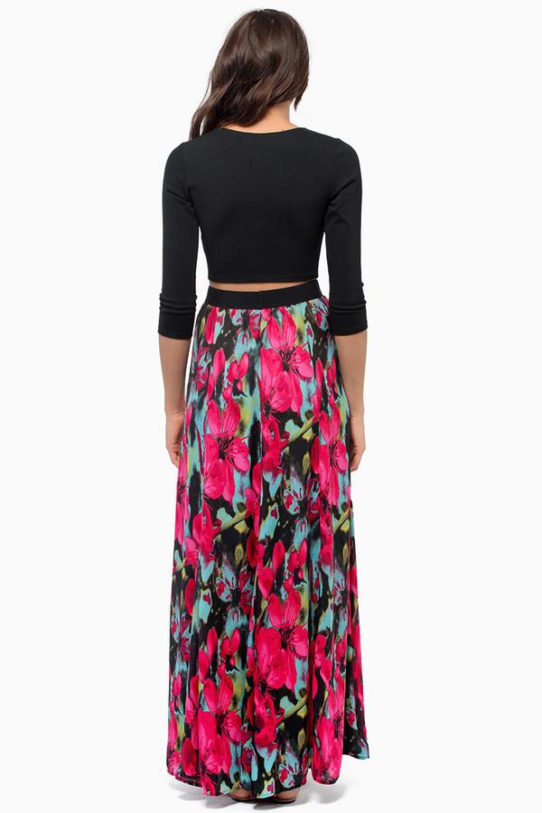BB Dakota Winona Printed Maxi Skirt