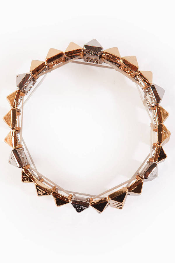 Pyramid Cross Bracelet