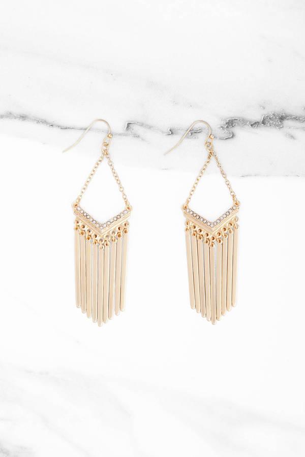 Charmed Gold Dangle Earrings