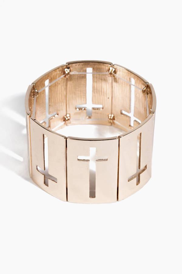 Cross Cutout Bracelet
