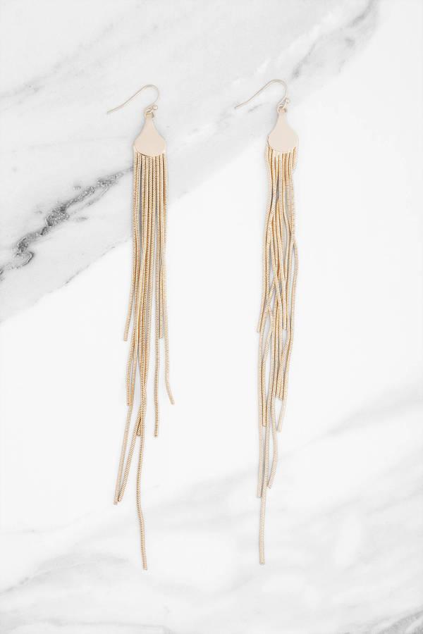 First Love Gold Dangle Earrings