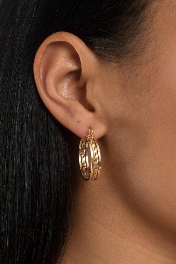Grace Gold Hoop Earring Set