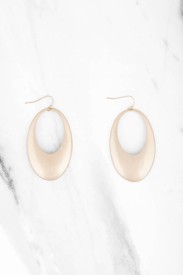 view oval product alternate pebble hoop earrings size os