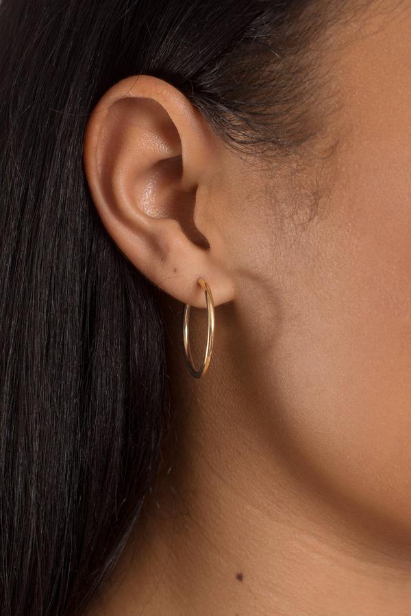 Vanessa Mooney Mirage Gold Hoop Earring Set