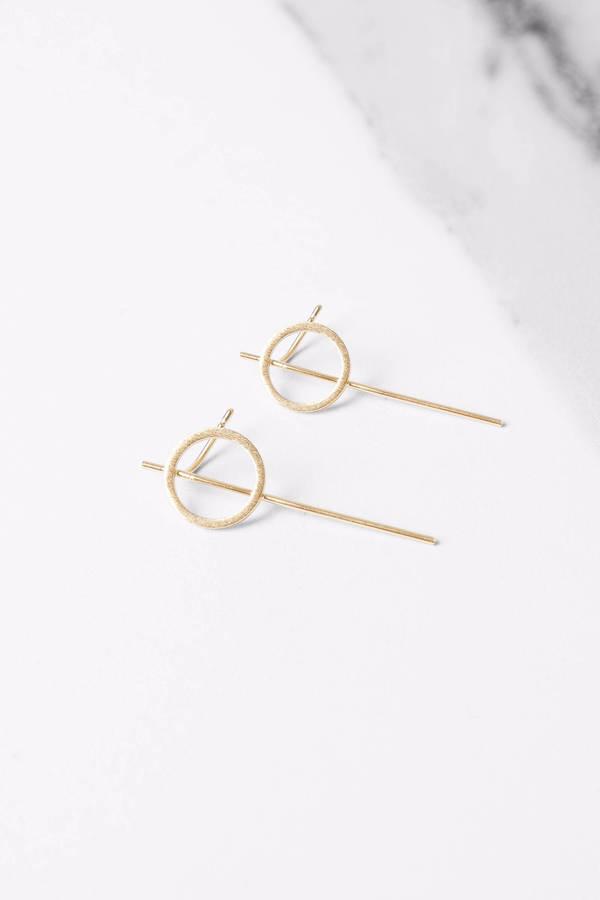 See Through Me Gold Stud Earrings - $9 | Tobi US
