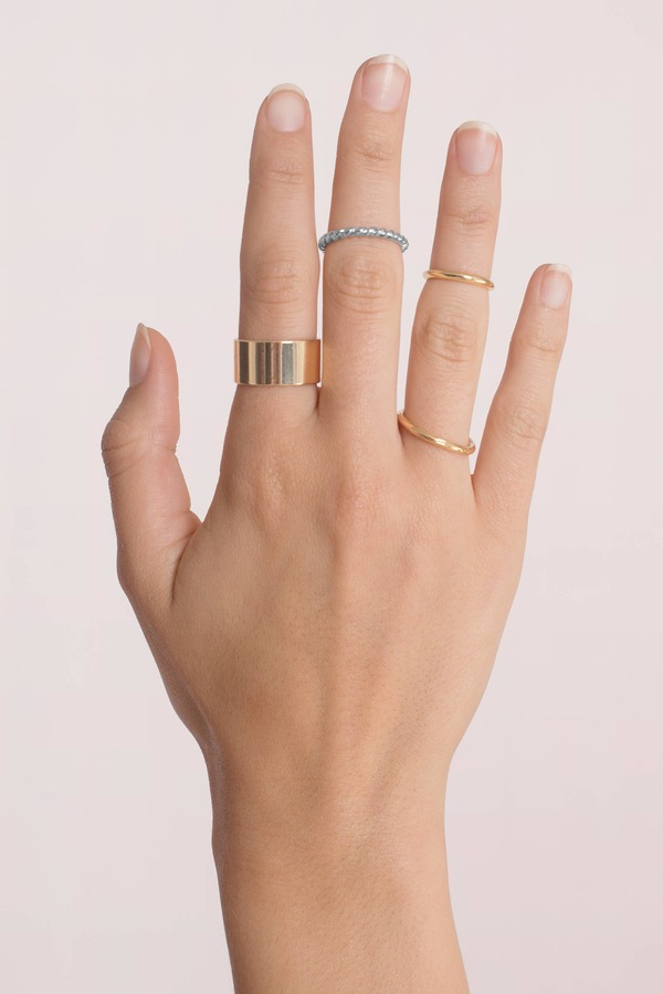 Rings & Fashion Ring Sets Bar Rings Gold Stackable Rings